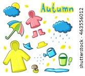 autumn objects set   Shutterstock .eps vector #463556012