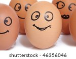 eggs row with smile on the... | Shutterstock . vector #46356046