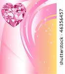 Beautiful Abstract Heart Diamond with background. - stock vector
