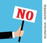 hands holds sign with no word.... | Shutterstock .eps vector #463569836