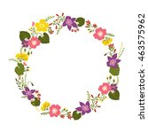 floral wreath isolated on white | Shutterstock .eps vector #463575962