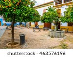 Detail Of A Courtyard With An...