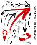 set of grunge arrows | Shutterstock .eps vector #46358497