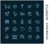 farm icons on a black... | Shutterstock .eps vector #463585712