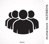 black four people | Shutterstock .eps vector #463588046
