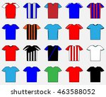 football shape. set of uniform. ... | Shutterstock .eps vector #463588052