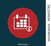 web line icon. calendar   Shutterstock .eps vector #463602782