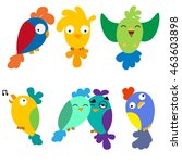 set birds vector | Shutterstock .eps vector #463603898