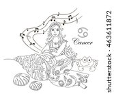 cancer zodiac sign as a...   Shutterstock . vector #463611872
