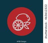 web line icon. lemon | Shutterstock .eps vector #463612322