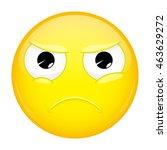 angry emoji. evil emotion.... | Shutterstock .eps vector #463629272
