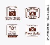 flat vintage  retro  classic... | Shutterstock .eps vector #463632818