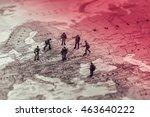 eastern european military... | Shutterstock . vector #463640222