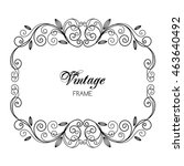 elegant luxury vintage... | Shutterstock .eps vector #463640492
