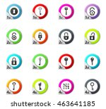 lock and key web icons for user ... | Shutterstock .eps vector #463641185