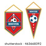 set of soccer pennants isolated ... | Shutterstock .eps vector #463668392