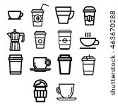 set of coffee icons | Shutterstock .eps vector #463670288