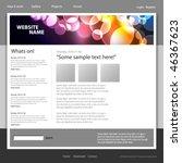 web site design template ...   Shutterstock .eps vector #46367623