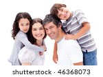 smiling parents giving their...   Shutterstock . vector #46368073