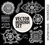 vector set   illustration... | Shutterstock .eps vector #463683212