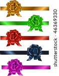 set of colorful  ribbons with...   Shutterstock .eps vector #46369330