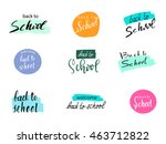 back to school design. vector... | Shutterstock .eps vector #463712822