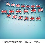 colorful flags of great britain ... | Shutterstock .eps vector #463727462