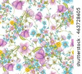 seamless pattern of hand drawn... | Shutterstock . vector #463728605
