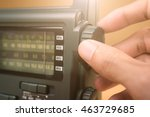 hand tuning radio button | Shutterstock . vector #463729685