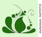 decorative flower  flower   Shutterstock .eps vector #463729715