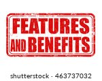 features and benefits grunge... | Shutterstock .eps vector #463737032