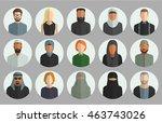 vector set of avatar flat icons ...   Shutterstock .eps vector #463743026