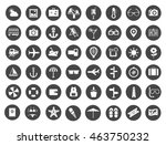 collection of vector travel ... | Shutterstock .eps vector #463750232