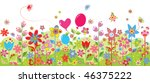 spring colorful seamless card | Shutterstock .eps vector #46375222