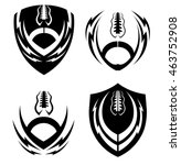 football icon emblems set | Shutterstock .eps vector #463752908