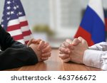 negotiation of usa and russia.... | Shutterstock . vector #463766672