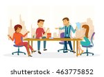 a team gathering for a... | Shutterstock .eps vector #463775852