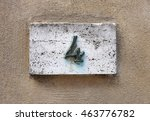 block number on a weathered... | Shutterstock . vector #463776782
