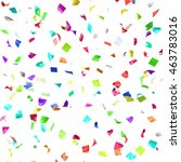 colored paper in flight... | Shutterstock . vector #463783016