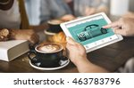 car rental salesman automobile... | Shutterstock . vector #463783796