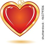 gold trinket souvenir with love ... | Shutterstock . vector #46379506
