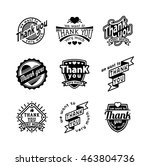 vintage label thank you text... | Shutterstock .eps vector #463804736