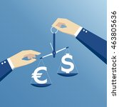 business concept exchange rate  ...   Shutterstock .eps vector #463805636