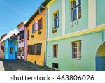medieval building in the old... | Shutterstock . vector #463806026