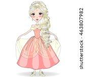 hand drawn beautiful cute girl... | Shutterstock .eps vector #463807982