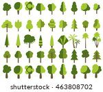 flat trees in a flat design.... | Shutterstock .eps vector #463808702