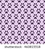 pet paw footprint pattern  ... | Shutterstock .eps vector #463815518