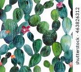 Watercolor Cactus Tropical...