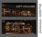 gift voucher. vector ... | Shutterstock .eps vector #463847768