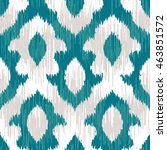 ikat pattern seamless... | Shutterstock .eps vector #463851572